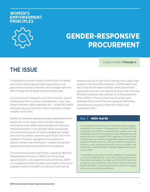 Gender Responsive Procurement
