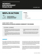 Developing an Online Learning Community for Women