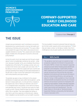 Company-Supported Early Childhood Education and Care