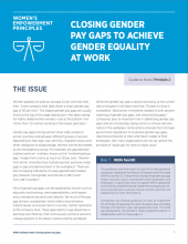 Closing Gender Pay Gaps to Achieve Gender Equality at Work