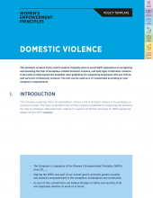 Domestic Violence Policy Template