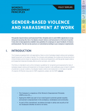 Gender-Based Violence and Harassment at Work Policy Template