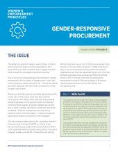 Gender-responsive procurement