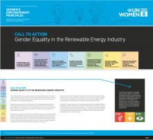 Call to Action: Gender Equality in the Renewable Energy Industry