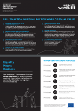 WEPs Call to Action on Equal Pay