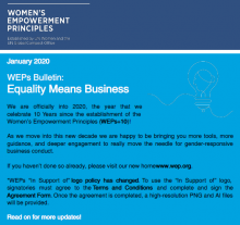WEPs Bulletin January 2020: Equality Means Business